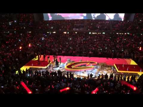 2014-2015 Cavs Home Opener Intro Lebron's Return