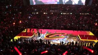 2014-2015 Cavs Home Opener Intro Lebron