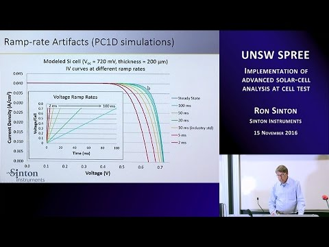 UNSW SPREE 201611-15 Ron Sinton - Implementation of advanced solar-cell analysis at cell test