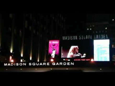The JYP Tour in NYC ad. at Madison Square Garden Marquee