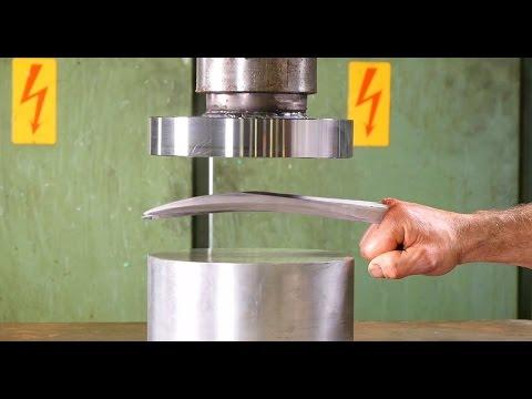 Crushing Adamantium with Hydraulic Press