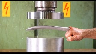 Crushing Adamantium with Hydraulic Press