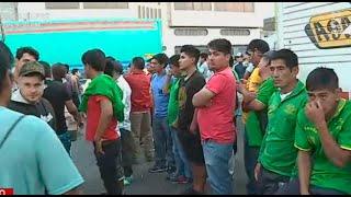 Estibadores inician huelga en Mercado Mayorista de Frutas
