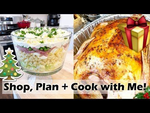 Holiday Plan, Shop and Cook with Me! Roast Turkey, Stuffing, Scalloped Potatoes, 8 Layer Salad