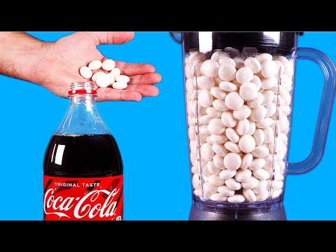 GIANT BLENDER VS MENTOS! - EXPERIMENT