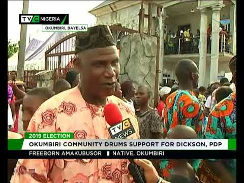 Image result for 2019: Okumbiri community drums support for Dickson, PDP