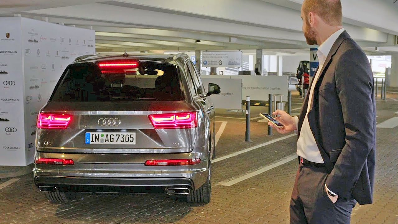 audi q7 (2018) automated parking - youtube