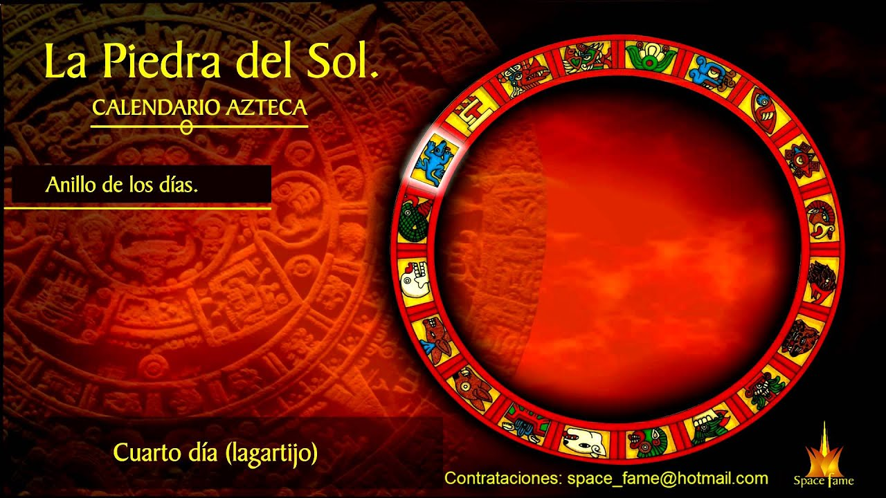 Descripci n del calendario azteca parte 4 youtube for Del sol horario