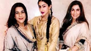 Sara Ali Khan With Mom Amritha Singh And Dimple Kapadia Sara Ali Khan With Her Mother And Dimple