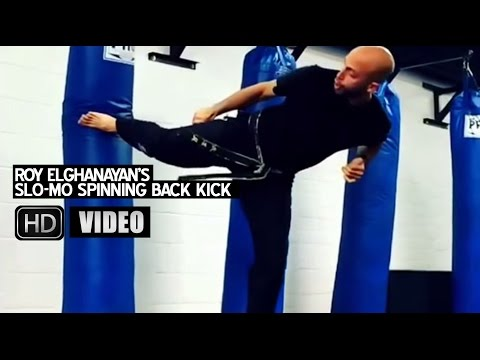 Roy Elghanayn's Slow-Motion Mix Martial Arts (MMA) Spinning Back-Kick!