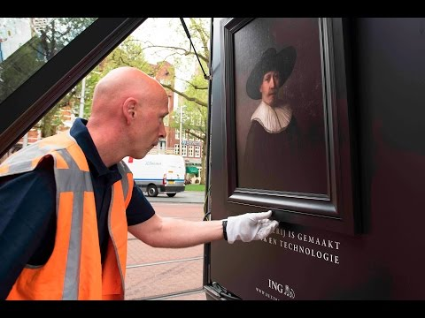 ING outdoor art exhibition for The Next Rembrandt | JCDecaux The Netherlands