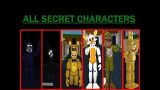 Fredbear and Friends Family Restaurant ROBLOX: ALL SECRET ANIMATRONICS