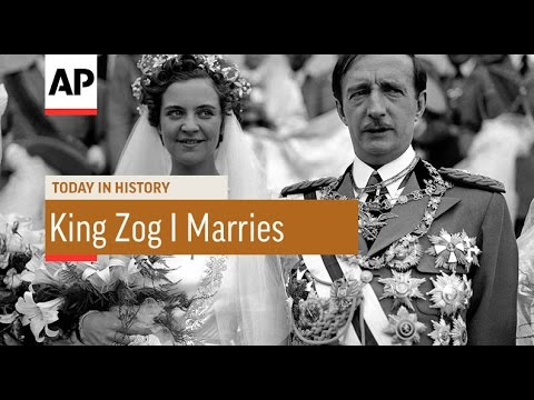 King Zog I Marries - 1938 | Today In History | 27 Apr 17