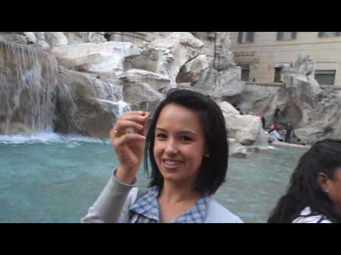 Natali at the Trevi Fountain