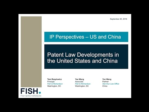 Webinar | IP Perspectives - US and China: Patent Law Developments in the United States and China