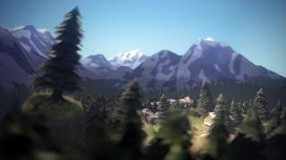 TF2: alpine skybox mountain range in 3D