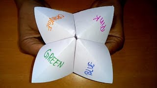 Origami Fortune Teller | Paper Fortune Teller | How To Make a Paper Fortune Teller | Cootie catcher