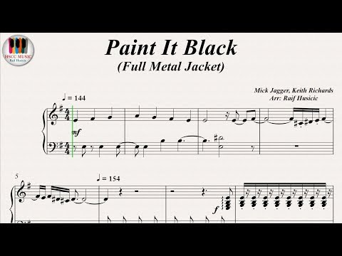 Paint It Black (Full Metal Jacket) - The Rolling Stones, Piano