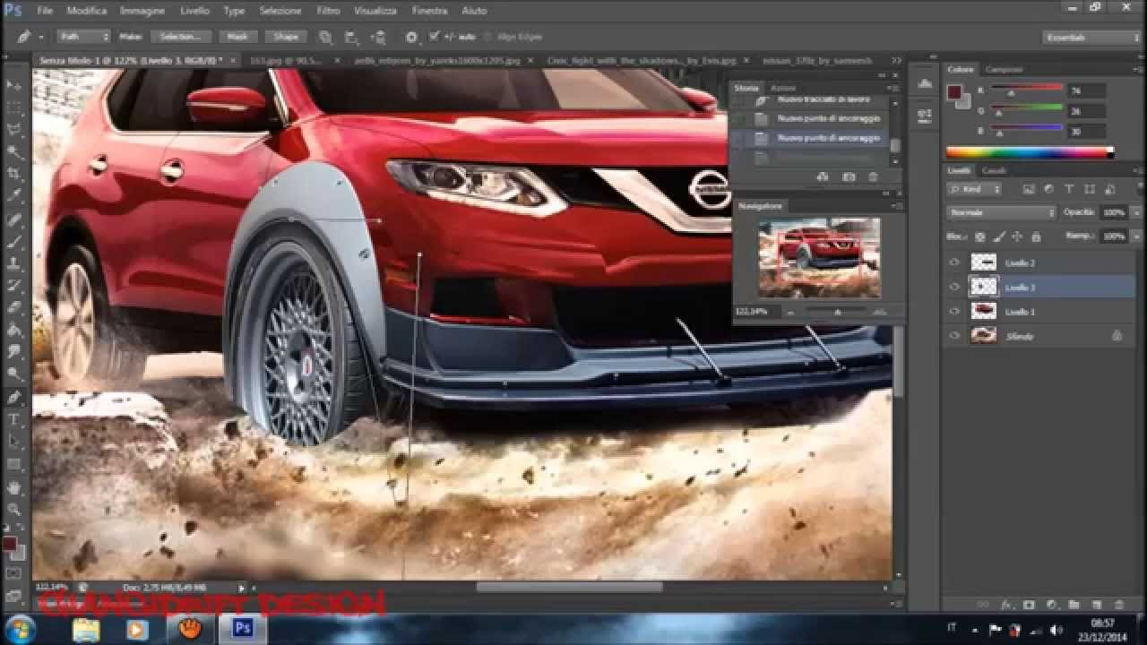 Nissan X Trail 2014 Virtual Tuning Photoshop - YouTube