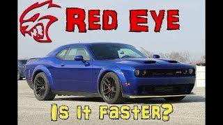 2019 Challenger Hellcat Red Eye VS. Stock Hellcat Drag Race