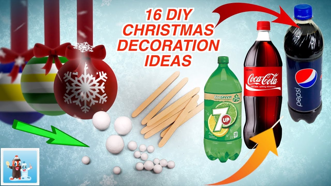 16 awesome ideas for diy christmas decorations art and craft youtube