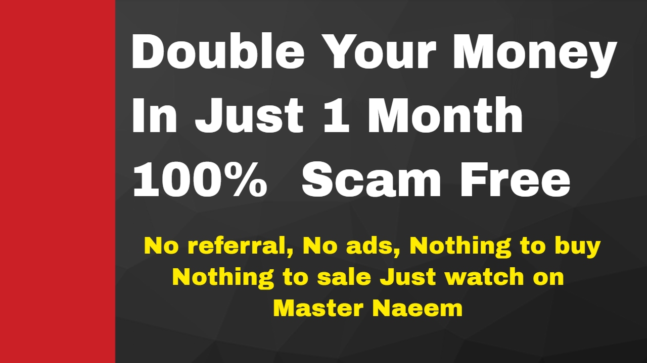 How To Double Your Money In Just 1 Month 100 Scam Free No Ads