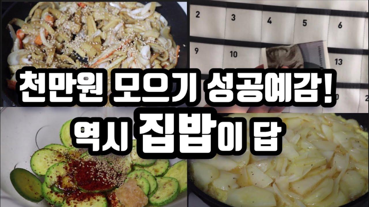 빠르게 목돈만드는 집밥 레시피! 식비아끼는 일주일 집밥 브이로그! korean home meal  / home cooked meal