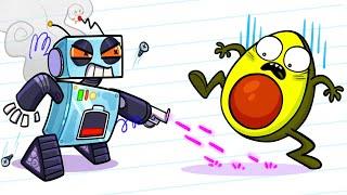 Avocado Escapes From Robots