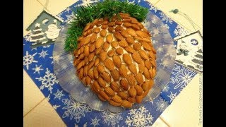 Новогодние салаты  Салат Шишка