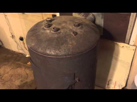 D.I.Y Water Heater Wood Stove under $50