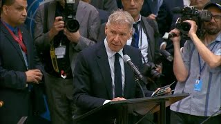Harrison Ford on the importance of rainforests at the UN Climate Action Summit 2019