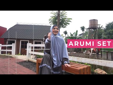 Koleksi Gamis Set Syari Warna Charcoal By AULIA FASHION