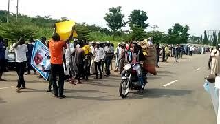 Ebira community at Abuja Airport to President Buhari