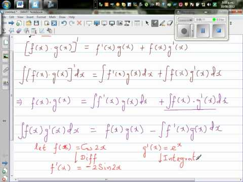 Evaluate By Integrating By Parts The Integration Of (e^x Cos 2x) Dx