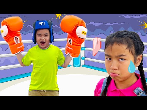 Lyndon and Jannie Play Sports and Train for Boxing   Kids Exercising