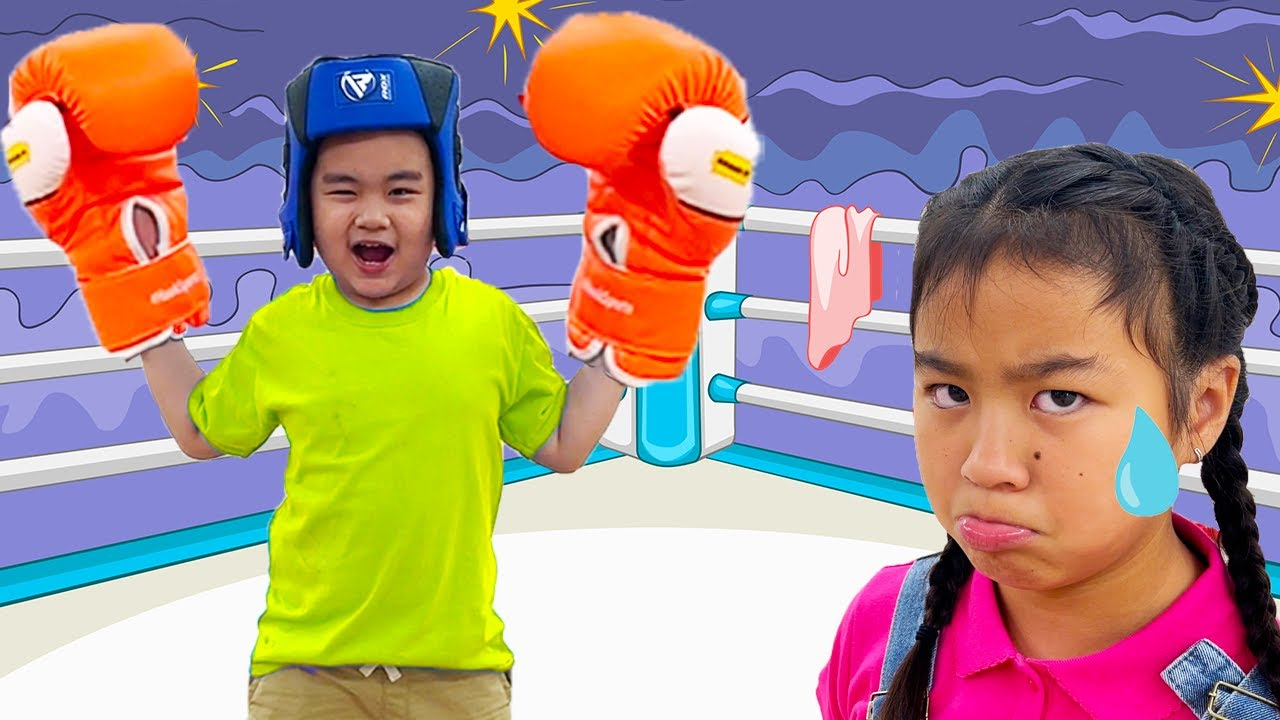 Download Lyndon and Jannie Play Sports and Train for Boxing | Kids Exercising
