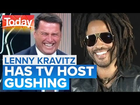 Lenny Kravitz Gets Karl's Heart Racing In Hilarious Interview   Today Show Australia