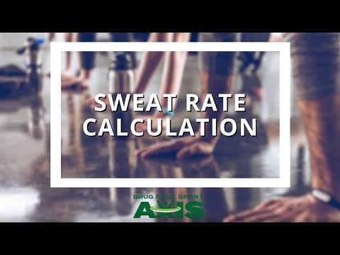 Sweat Rate Calculation