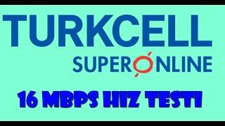 TURKCELL SUPERONLİNE ADSL 16MBPS İNTERNET HIZ TESTİ