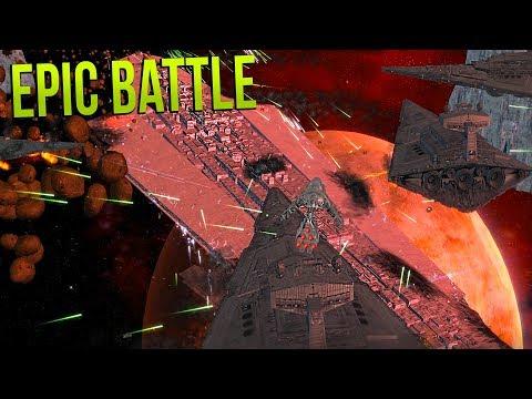 NEW REPUBLIC VS STARKILLER BASE!! - Star Wars Empire at War Yoden Mod!