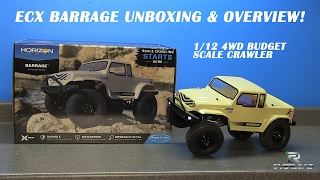 ECX Barrage 1/12 Scale Crawler Unboxing & Overview