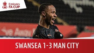 Swansea vs Man City (1-3) | City make history! 15 wins in a row! | Emirates FA Cup highlights