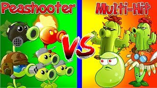 Plants vs Zombies 2 Peashooters vs Multi Hit | Every Plant Power Up | PVZ 2 Primal Gameplay