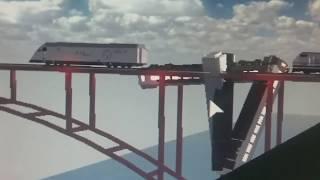 Roblox news: train wreck at pinewood gap bridge!!