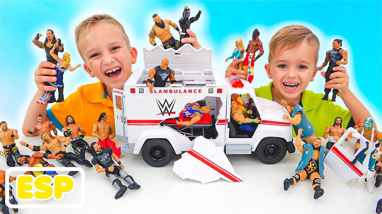 Download Vlad y Niki juegan con WWE Slambulance Vehículo de Juguete