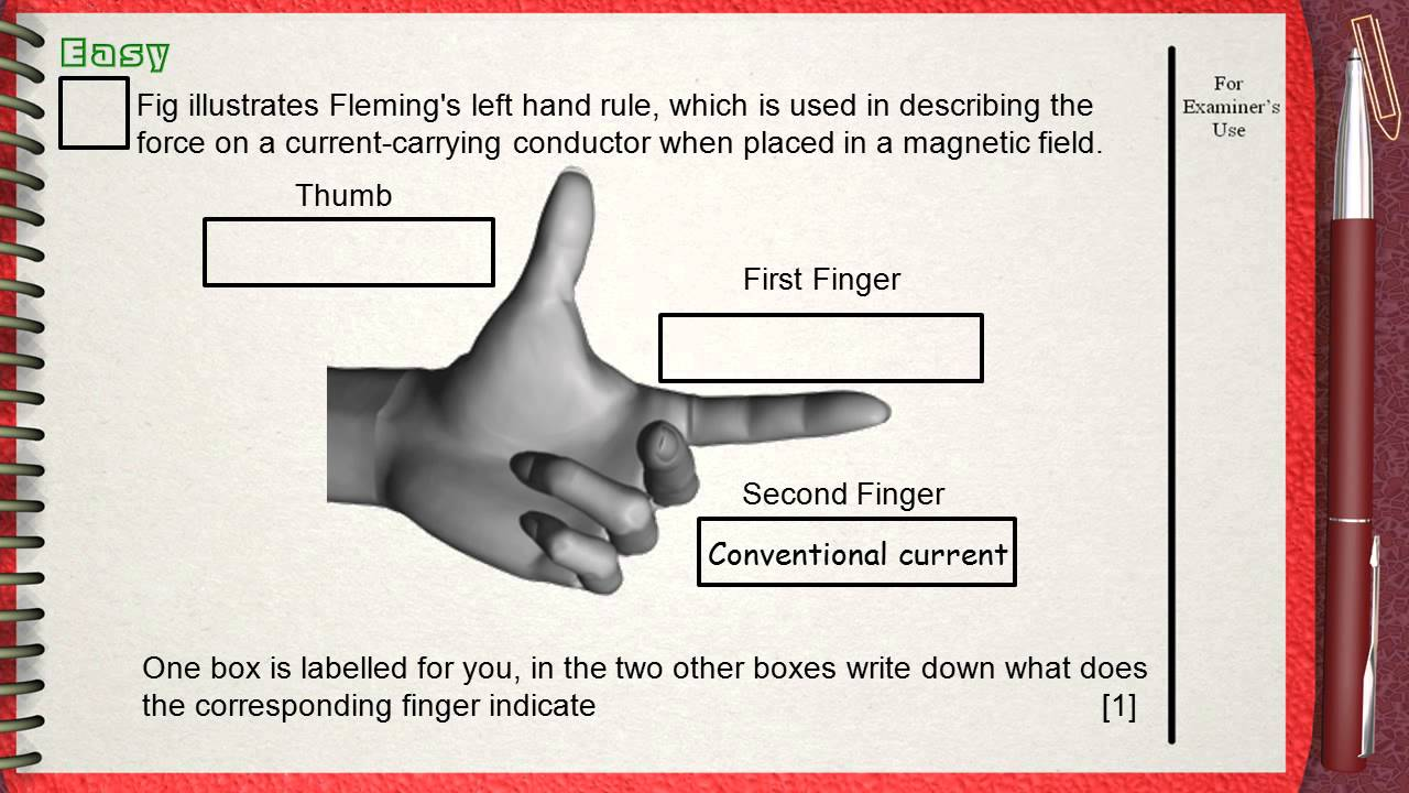 Q1..... L5 Eectric Motor Ch3 Electricity (Fleming\'s left hand rule ...