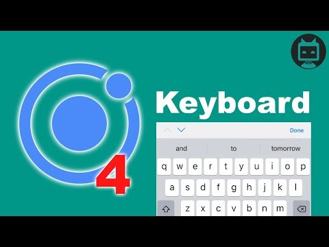Ionic 4 Keyboard Tutorial