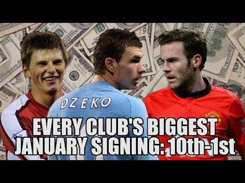 EVERY Premier League Club's Record JANUARY Signing (Part 2: 10th - 1st)