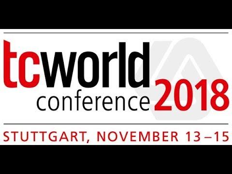 tcworld conference 2018 in Stuttgart