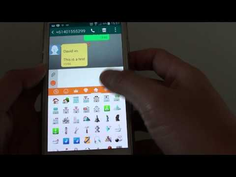 Samsung Galaxy S5: How To Insert Smiley Icons / Symbols Into A Text Message